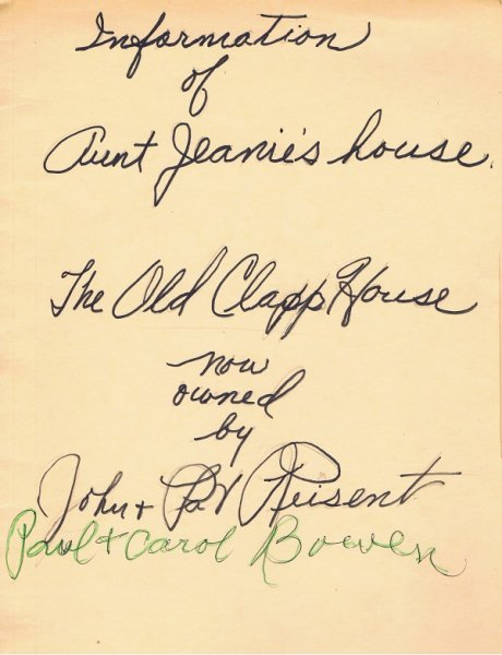 Aunt Jeanie's house - Cover
