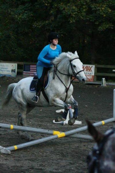 Jessica on horseback