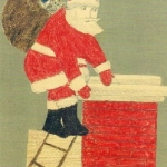 Santa Claus, Ladder and Chimney