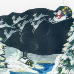 Santa Clause, Sleigh and Reindeers