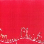 Merry Christmas on Red Fabric