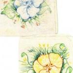 Flowers on Handkerchief