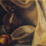 Drape, Jug, Dish and Apple
