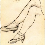 Silhouette of legs