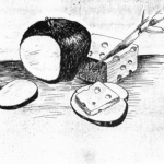 Apple, Cheese with Knife